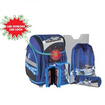 School bag set ''POLICE'' NEW START 3D 5-Pcs (LED buckle)