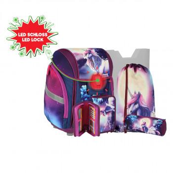 School bag set ''BE MAGIC'' NEW START 5-Pcs (LED buckle)