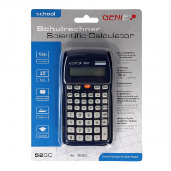 Calculator mathematical ''52 SC''