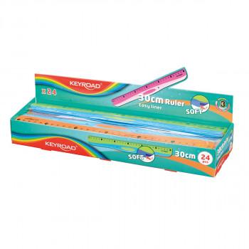 Ruler ''Soft'' 30cm, OPP Bag