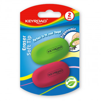 Eraser ''Soft Tip'', 2pcs blistercard