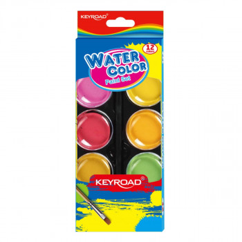 Water cake colors, 12-colors, 28mm