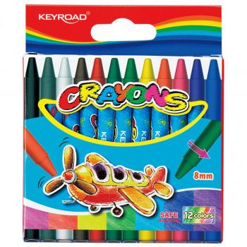 Wax crayons, 8x90mm