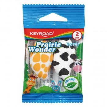 Eraser ''Praire'', 2pcs blistercard