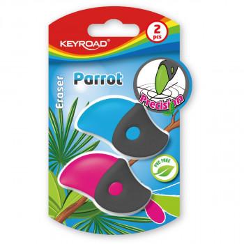 Eraser ''Parrot'', 2pcs blistercard