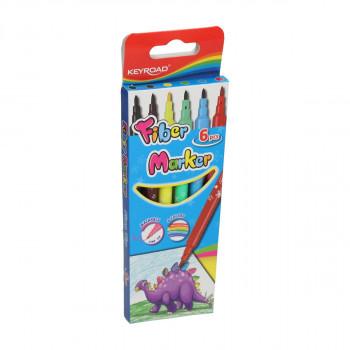 Fiber Marker ''Stars'', 6 colours