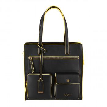 Pepe Jeans torba, crno-žuta