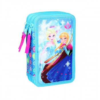 Empty pencil case ''FROZEN'', 3 zipper