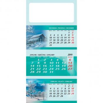 Zidni kalendar, 3x12listova