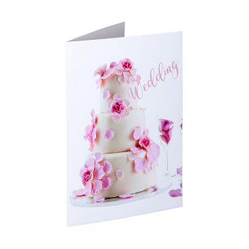 Greeting card 3D ''Wedding day 08''