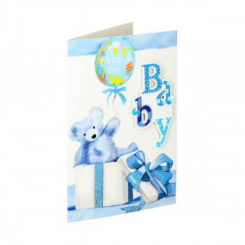 3D greeting card ''Baby boy''