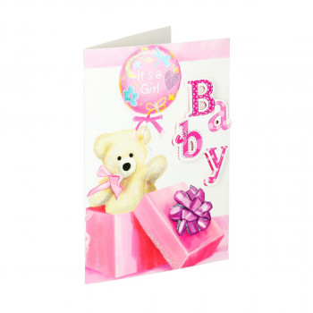 Greeting card 3D ''Baby girl 02''