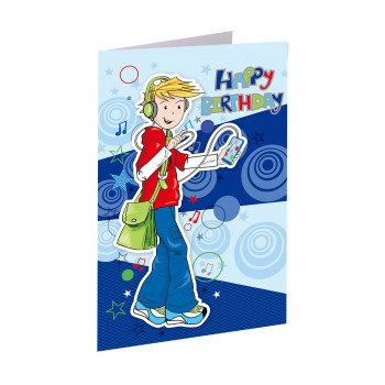 Greeting card 3D ''Happy birthday 04''