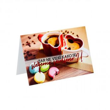 Čestitka ''Macarons & Coffee''