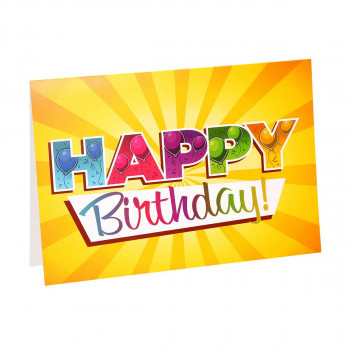 Greeting card ''Happy birthday 02''