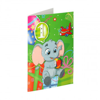 Greeting card 3D ''1st Birthday 01''