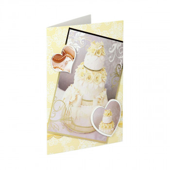 Greeting card 3D ''Wedding day 01''