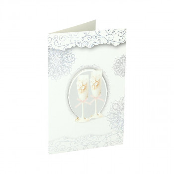 Greeting card 3D ''Wedding day 10''