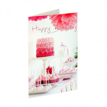 Greeting card 3D ''Happy birthday 18''