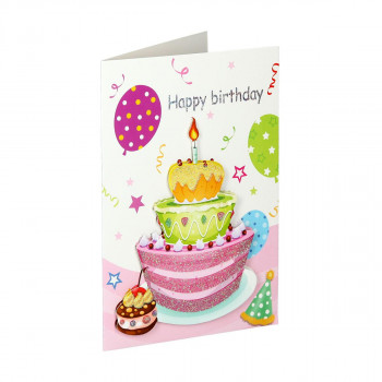 3D Greeting card ''Happy birthday 03''