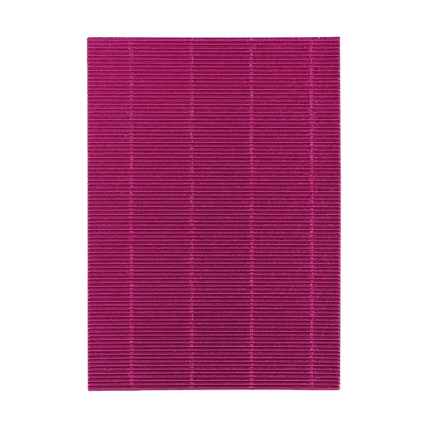 Karton rebrasti, metalik roza