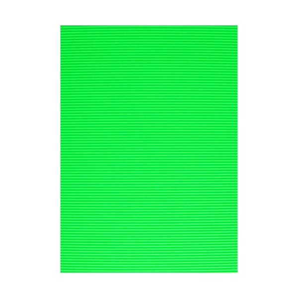 Karton rebrasti, fluo-zelena