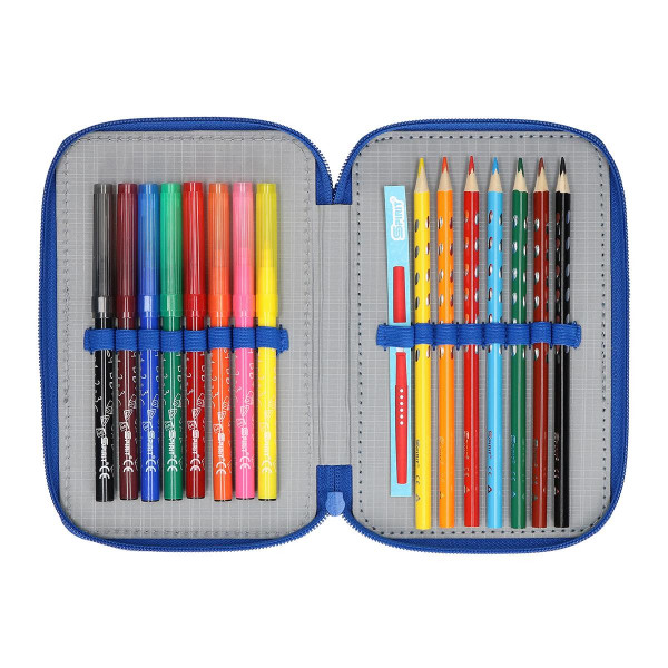 Pencil case 3D ''FOOTBALL GOAL'', 3 zipper