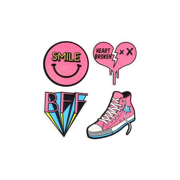 Sticker ''BFF/HEART'' Patch Me, 4pcs blistercard