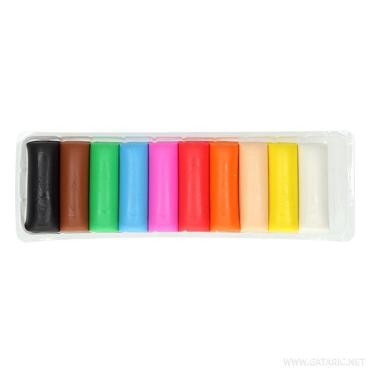 Plastelin, 10 boja