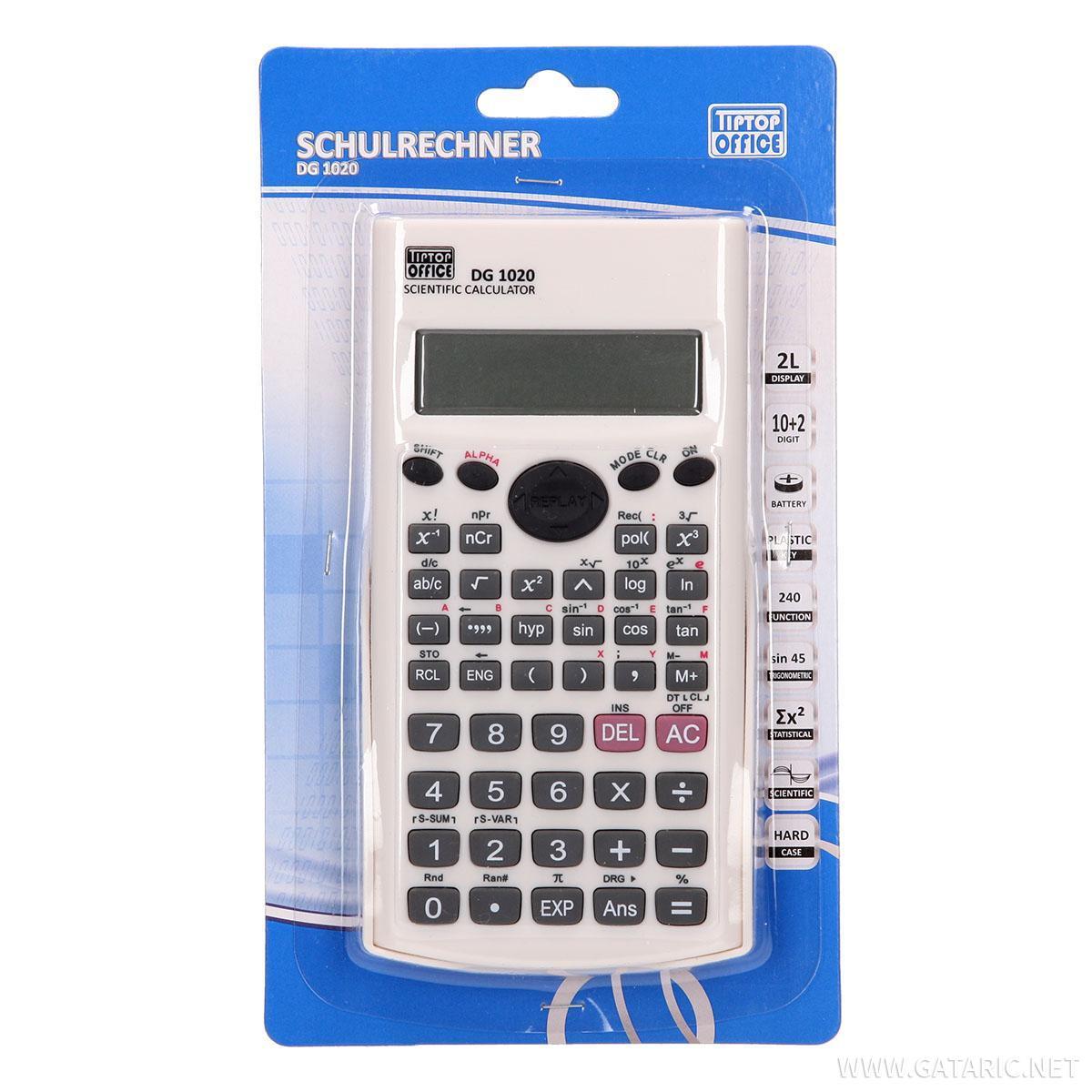 Školski digitron sa funkcijama DG-1020, 12 cifara