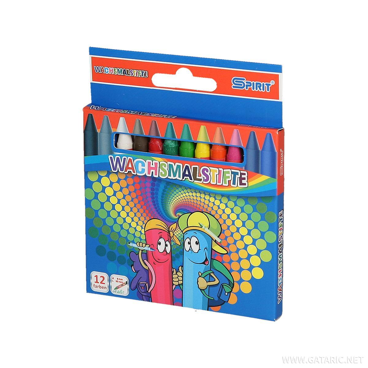 Voštane boje, 12 boja