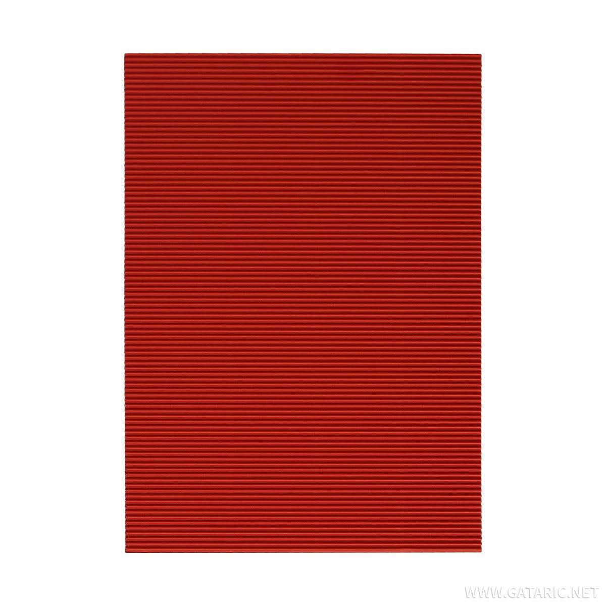 Karton rebrasti, crvena