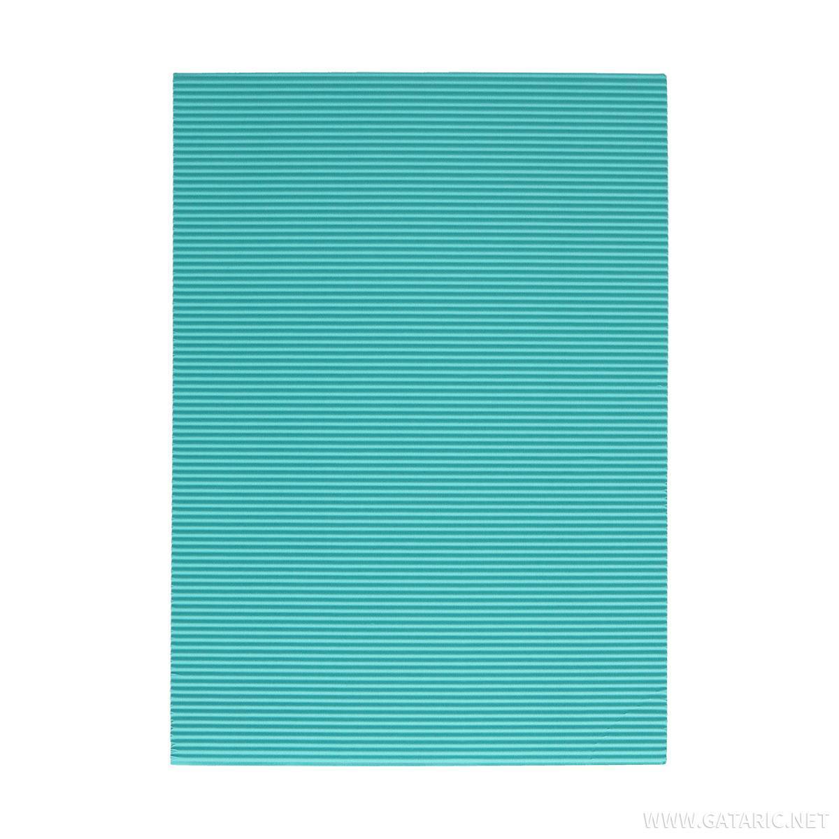 Karton rebrasti, pastelno plava