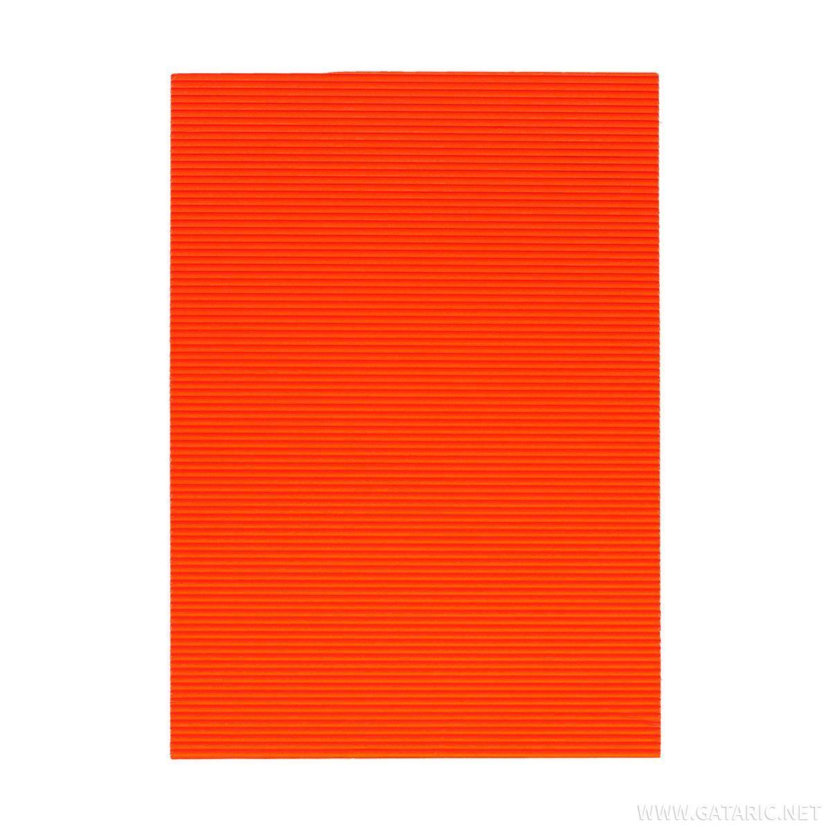 Karton rebrasti, fluo-tamno narandzasta