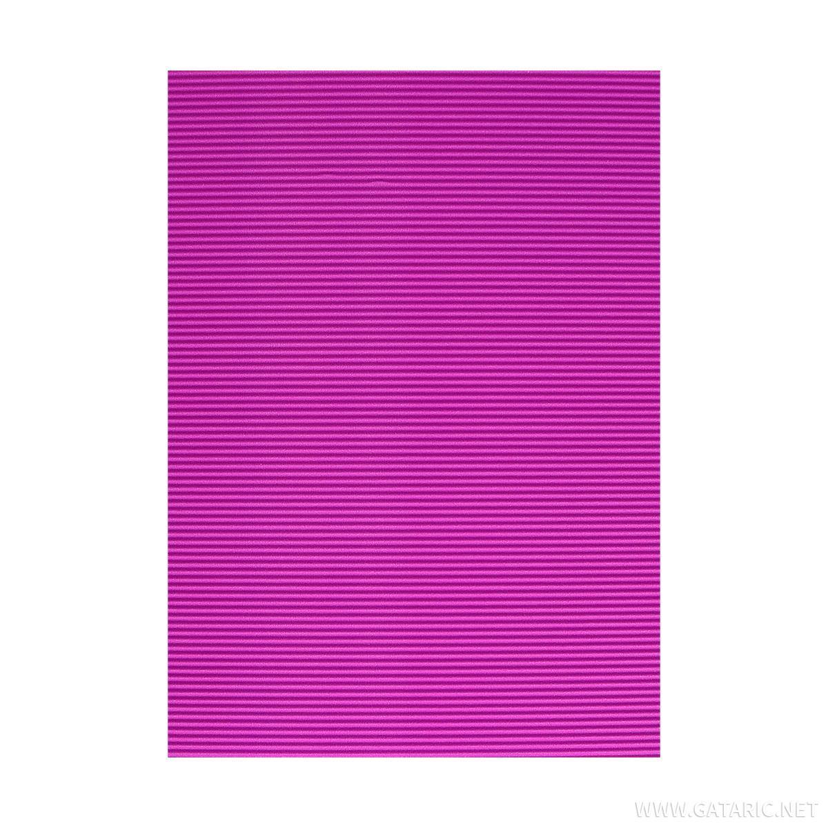Karton rebrasti, fluo-ljubičasta