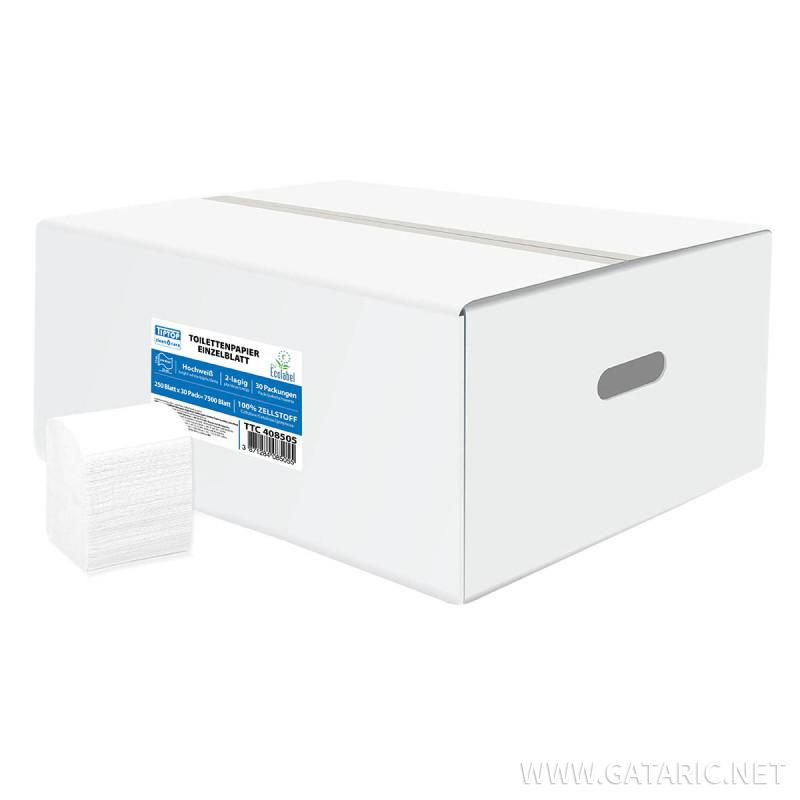 Toilettenpapier Einzelblatt