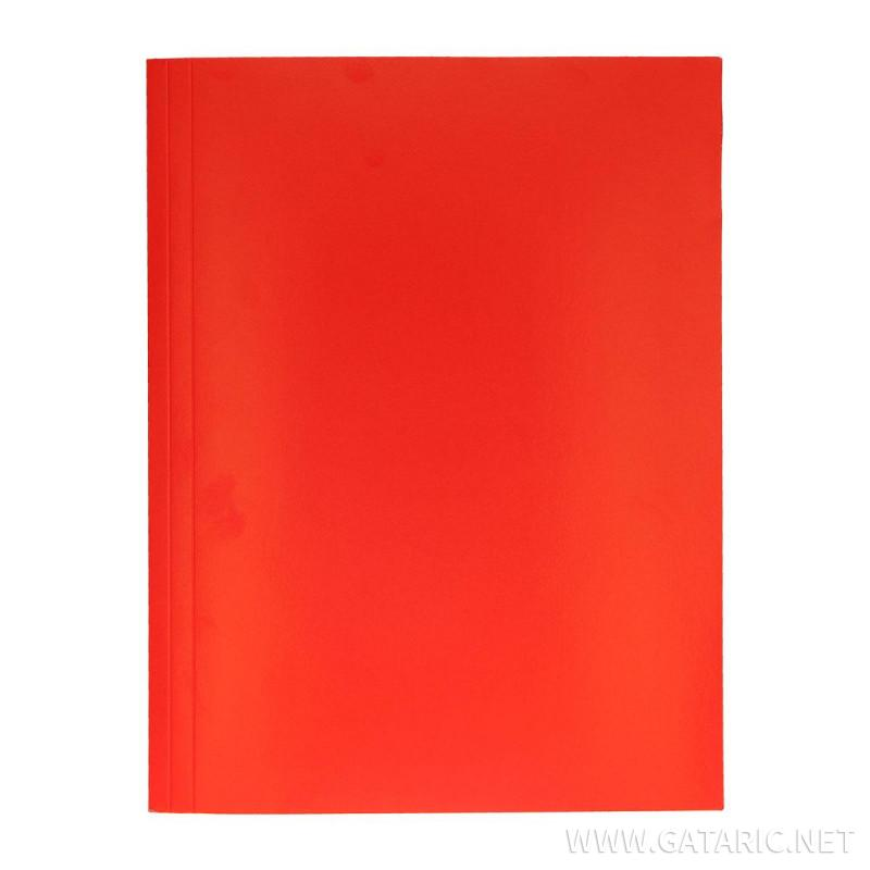 Fascikla Kromo, 3 klapne, crvena