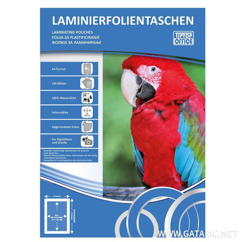 Folija za laminator A4, 125mic, 100/1