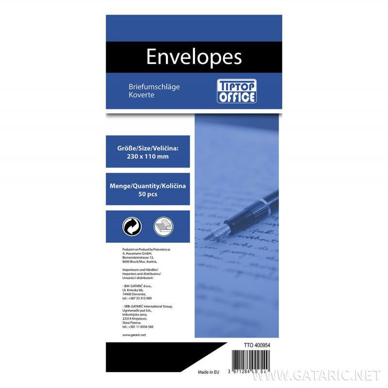 Envelope American Left Window 110x230mm, 50/1