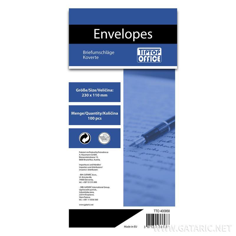 Envelope American Left Window 110x230mm, 100/1