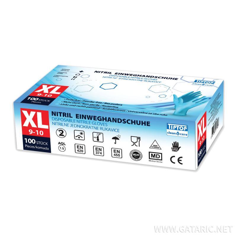 Nitril Einweghandschuhe XL 100/1