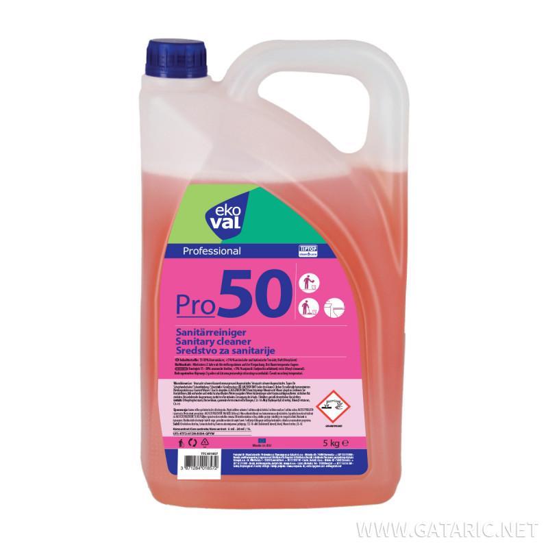 Sredstva za čišćenje sanitarija Pro 50 5kg
