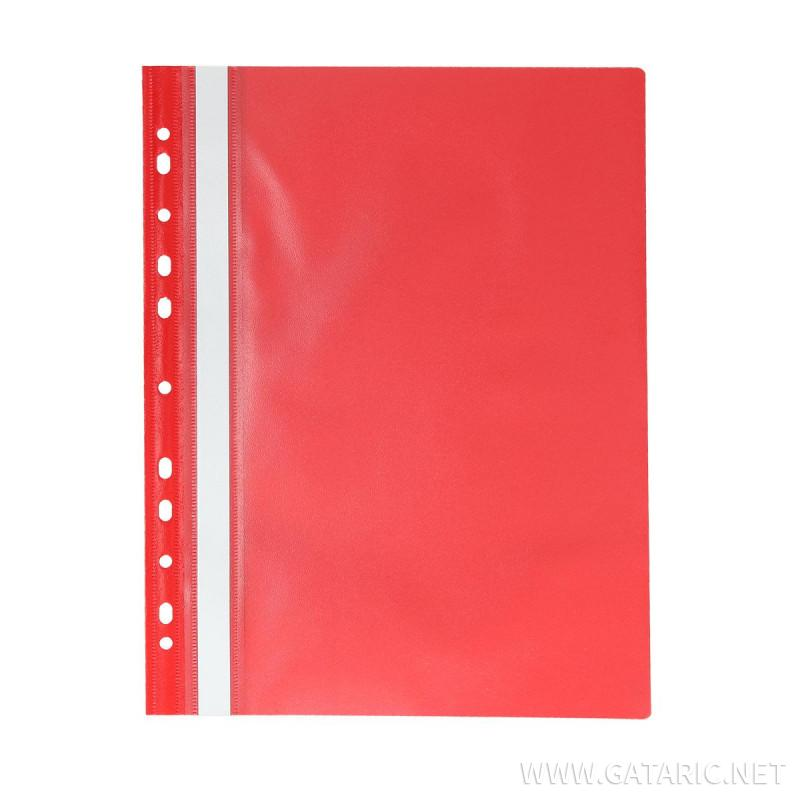 Fascikla se perforacijom 110/170µm A4, PP, crvena
