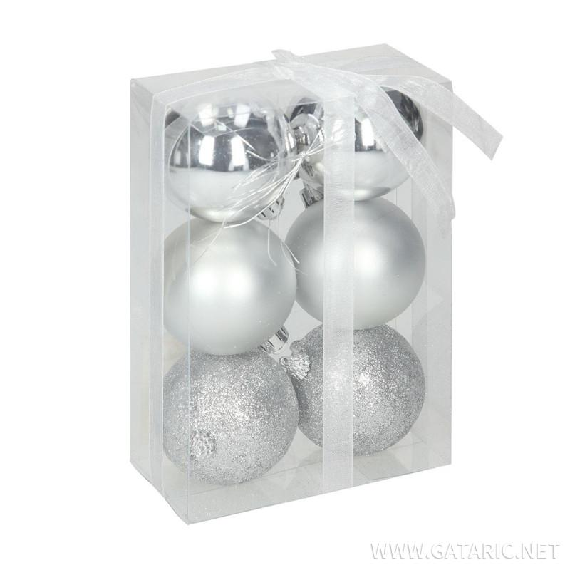 New Year ball set 6cm, 6/1