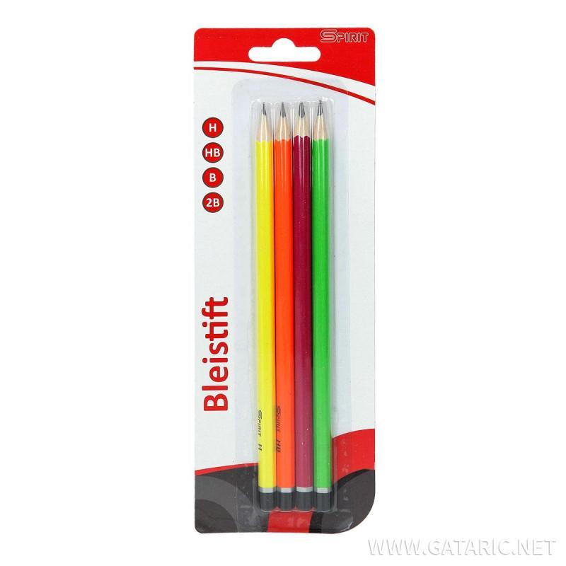 Drvena olovka (H HB B 2B), 4/1 blister