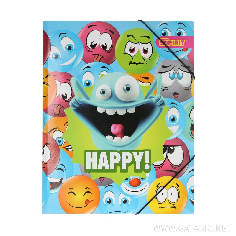 Fascikla ''Happy Smile 1''A4, sa 3 klapne i gumom