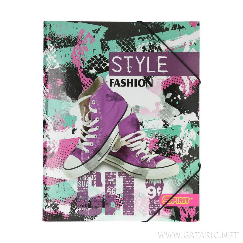 Elastic File ''City Fashion''A4, with 3 flaps