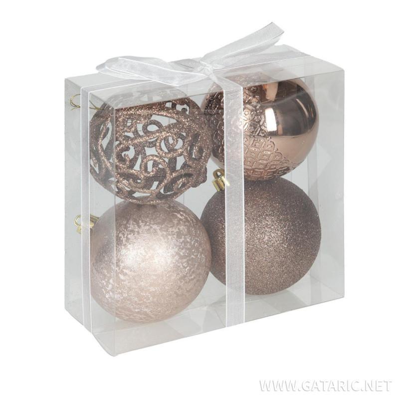 New Year ball set 8cm, 4/1