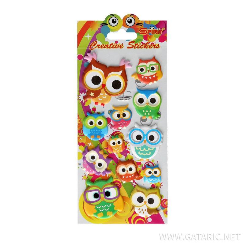 Decorative Sticker ''Puffy Owl''