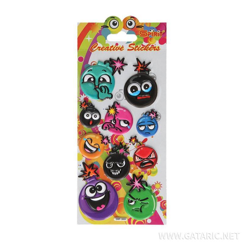 Decorative sticker ''Puffy Bomb''
